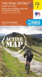 Ordnance Survey Explorer Map Ol1 The Peak District Dark Peak Area
