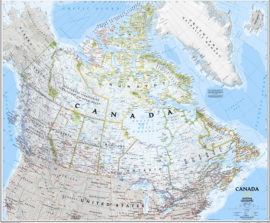 National Geographic Wall Map Canada Encapsulated